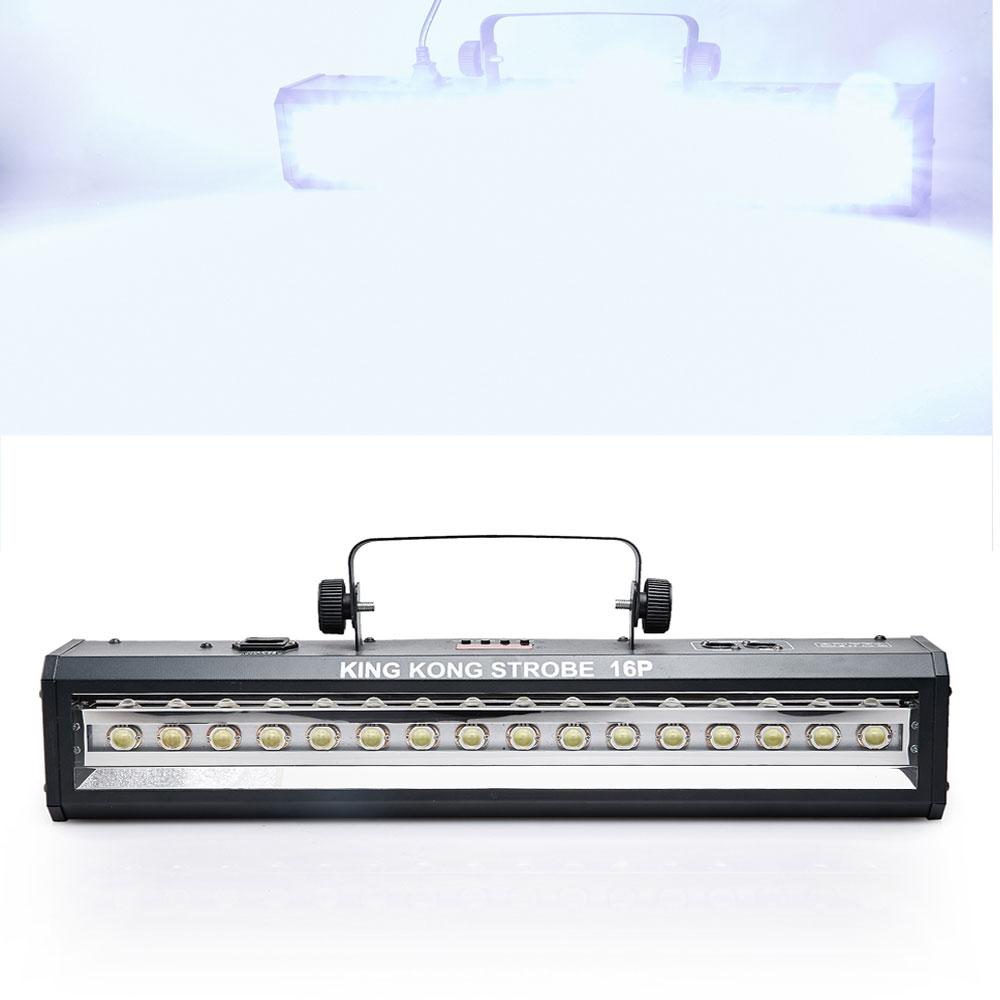 DMX Sound Control 16LEDs Пражэктар прасвятлення Дыска DJ Bar Light Музычнае шоў-праектар Белае яркае асвятленнеЭфект лазернага дыска-святла