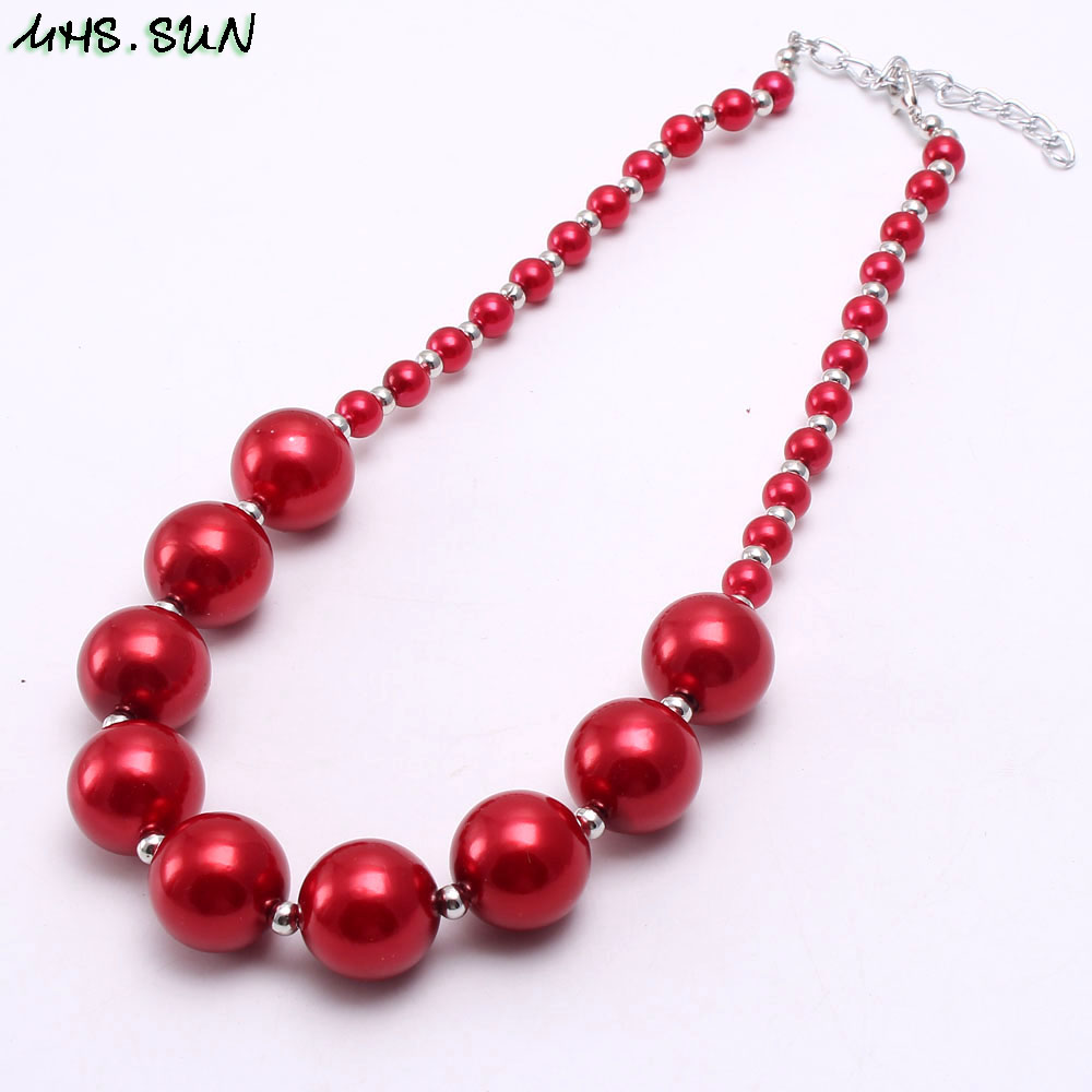 BN541-1 (3),$2.2,60g.Kids girls chunky beads necklace pearl chunky bubblegum necklace JPG