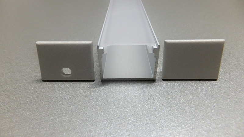 Hliníkový profil 100 cm velký hluboký čtverec LED pásové osvětlení s dopravou zdarma od společnosti Fedex