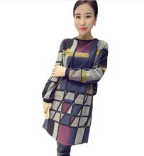 Autumn & Winter  Maternity  plaid woolen dress women lattice  Maternity Dress Clothes for Pregnant Women Pregnancy Clothing