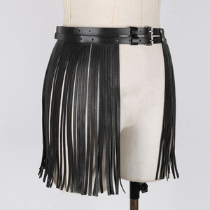 Image 5 - נשים מבוגרים מתכוונן פו עור חגורת פרינג טאסל חצאית חגורת מועדון לילה תלבושות קוספליי מסיבות חצאיות עבור ליל כל הקדושים