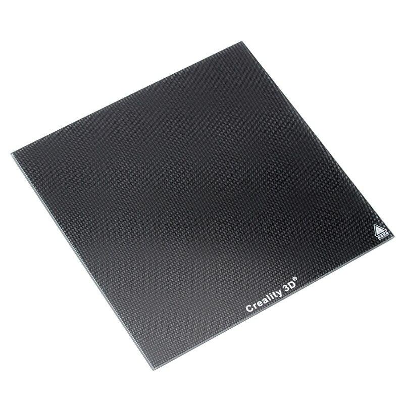 235*235mm Ender 3 ultrabase Temperado Vidro De Cristal De Silício De Carbono Preto da Plataforma de Construção para Creality 3D Ender-3 3d peças de impressora