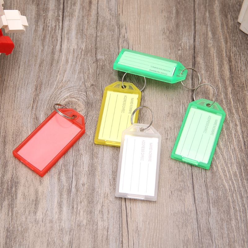 5 PCS Plastic Key Tags With Ring Keychain Key ID Label Luggage Name Keyring Tag  Memory Sticks