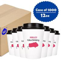 Оптовая Продажа 1000 шт. 12 унций 16 унций питьевой бумажный стаканчик посуда для кофе и чая для кафе магазин Свадебный Babyshower детский день рожде