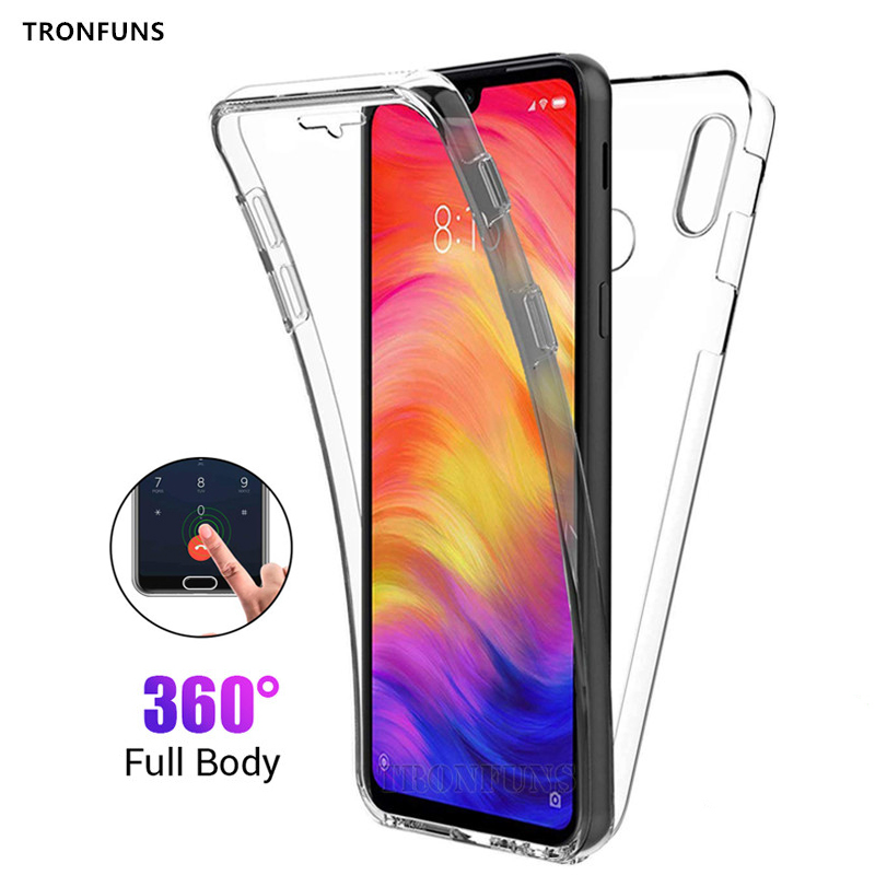 Clear Front Back Case For Xiaomi <font><b>Mi</b></font> <font><b>9</b></font> 8 <font><b>SE</b></font> A1 A2 Lite Redmi Note 7 6 5 Pro 5A Prime 4X 4 <font><b>Global</b></font> 6A 6 Pro 5 Plus S2 Cover Funda image