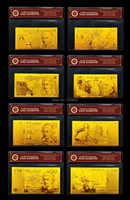 Inglese BRITANNICO Oro Banconota Set5.10.20. 50 Pound Banconote Oro Britannico w/COA