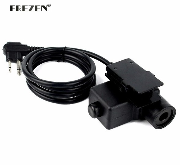 U94 PTT Cable Plug Military Adapter Z113 Standard Version For Walkie Talkie For Motorola Two Pins Radio Hunting