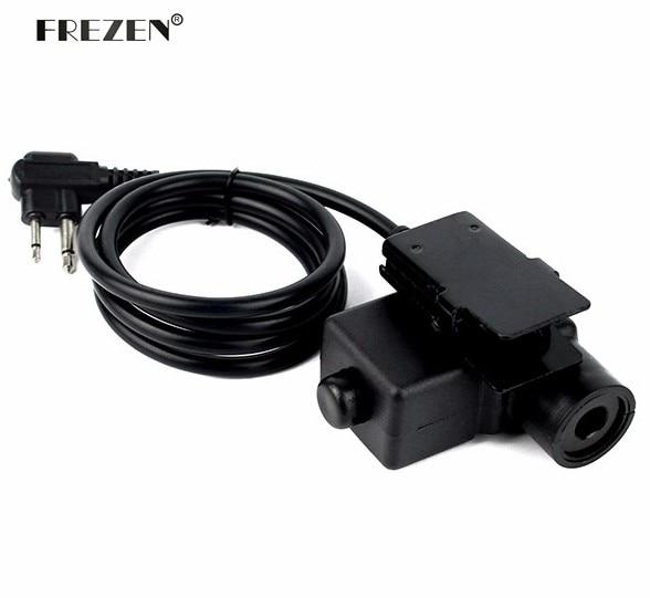 U94 PTT Kabel Plug Adapter Militer Z113 Versi Standar untuk Walkie Talkie untuk Motorola Radio Dua Pin