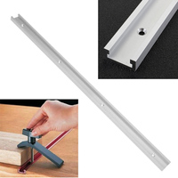 1pc Silver T-tracks Aluminum Slot Miter Track Jig Fixture for Router Table Bandsaws Mayitr Woodworking   Tool   Length 600mm