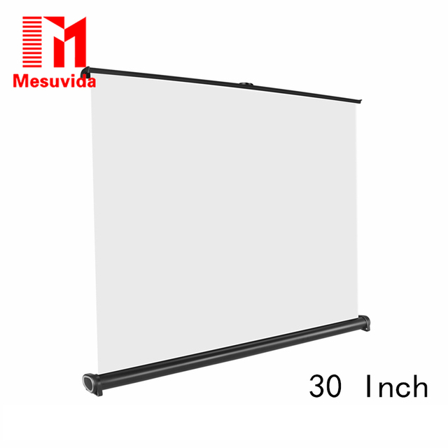 HY Movie Screen 30 inch 16:9 Home Cinema Projector Screen Pull ...