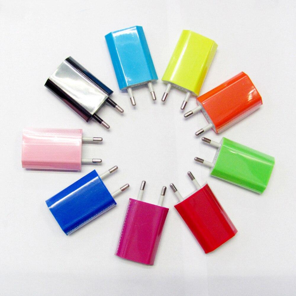 Etmakit prise EU USB chargeur mural voyage maison AC chargeur mural adaptateur pour iPhone 5s 6s 7 Plus pour Samsung S5 S6 S7 chargeur de téléphone