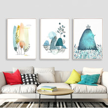 Cartoon Prints Modern Wall Art Watercolor Canvas Painting Scenery Poster Children Room Decor Pictures HD2412