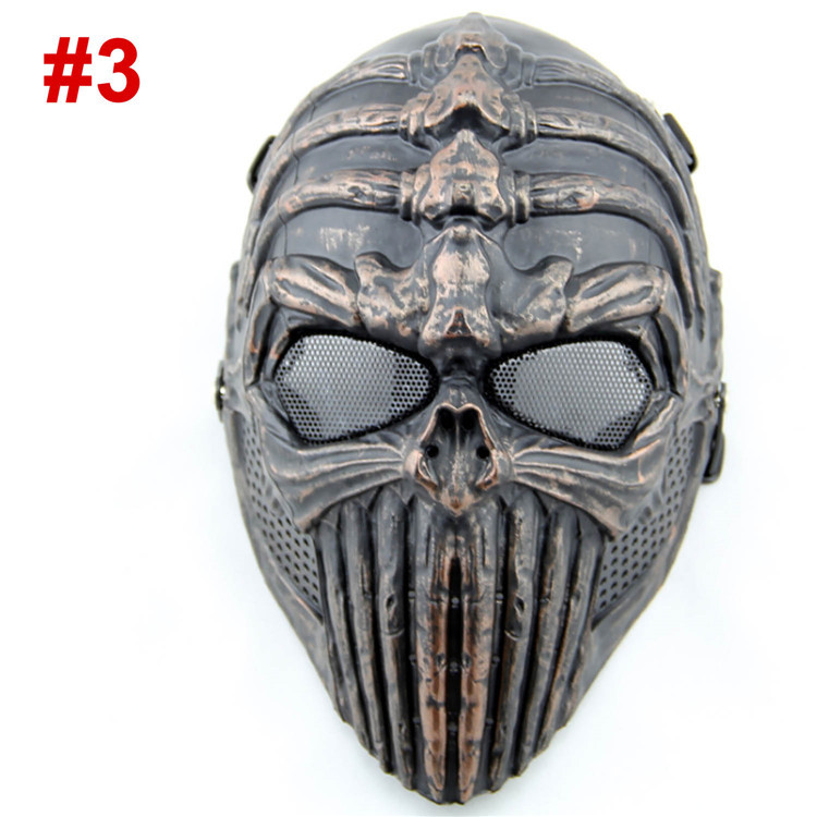New Spine Tingler Skull Skeleton Full Face Airsoft Paintball Cosplay Mask For halloween Party CS Wargame Field game Movie Prop