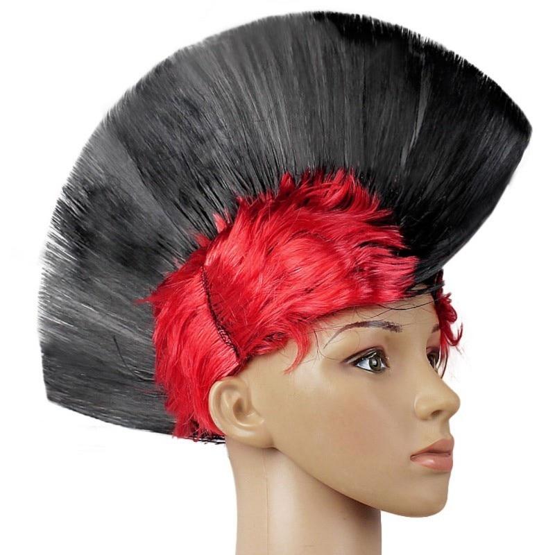 Hot Rainbow Mohawk Hair Wig Fancy Costume Punk Rock Wigs Halloween Cosplay Party 11
