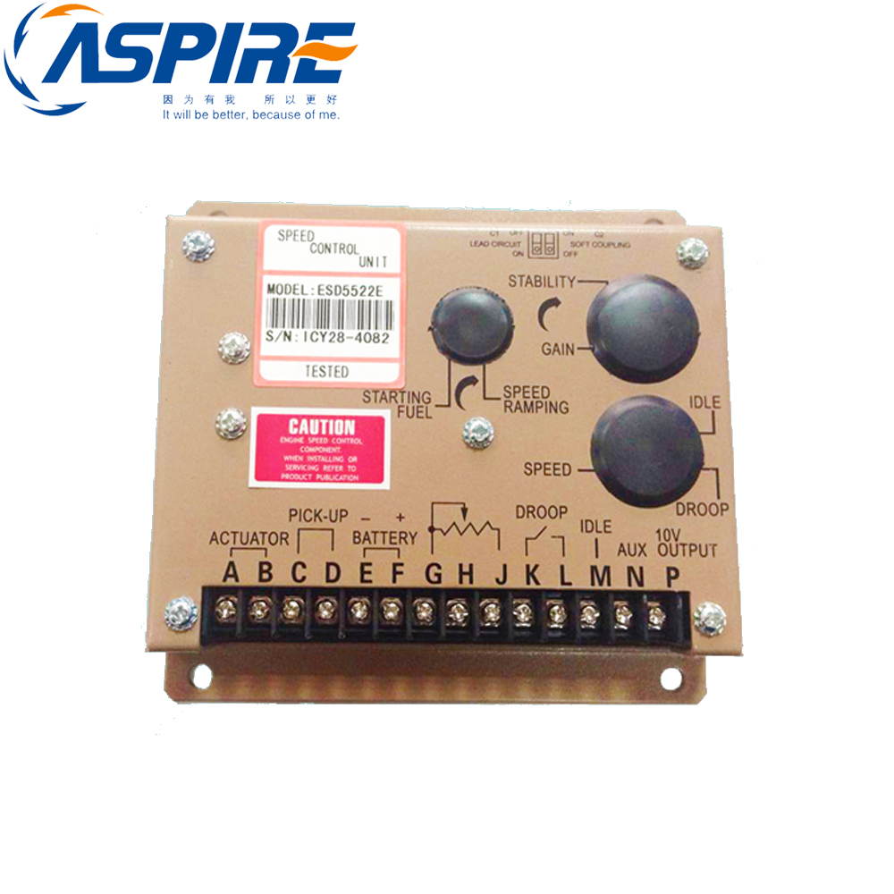 SPEED controller ESD5522E for Diesel Generator free shipping d e e p s e a controller dse702 suit for diesel generator
