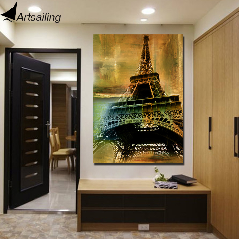 ⊹HD impreso 1 unidades lienzo Torre Eiffel vintage pintura cuadros ...