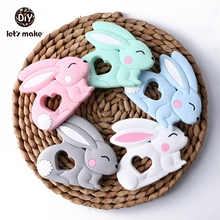 Baby Teethers Silicone Teething Toy Of Cartoon Rabbit Charms Necklace Making New