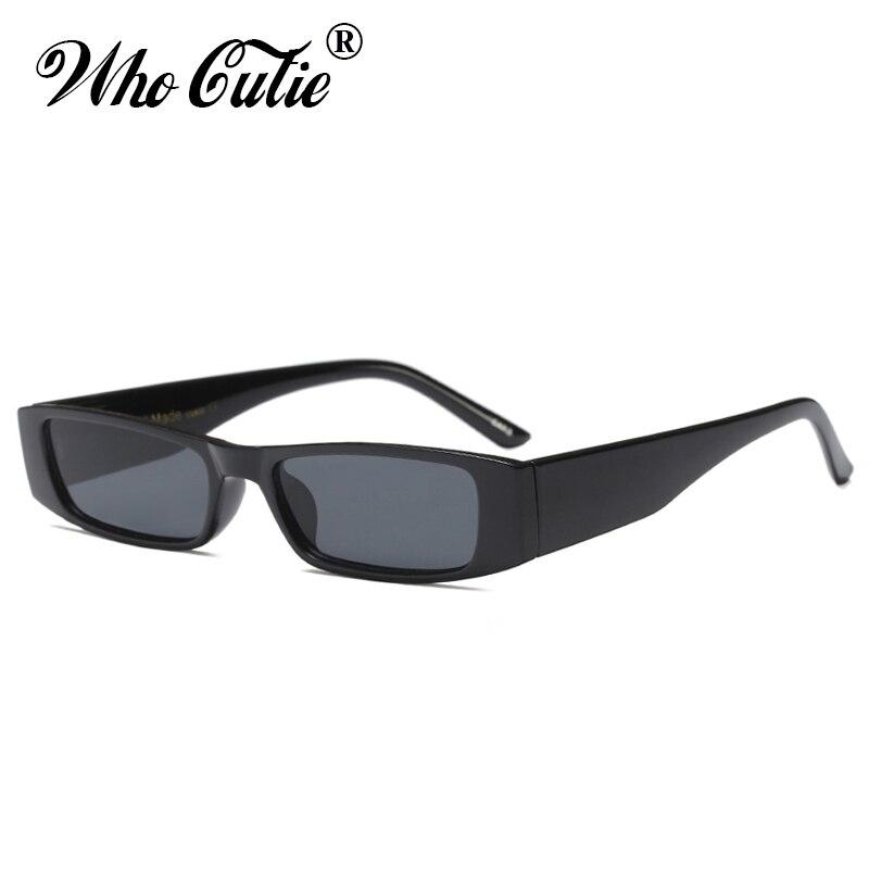 QUE GRACINHA Retângulo Estreito Chunky Óculos Mulheres Homens Marca  Designer 2018 Vintage Retro Retangular Grosso Quadro 1407cfe4e4