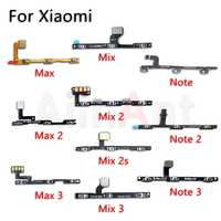 AiinAnt Volume On Off Button Power Flex Cable For Xiaomi Mi Note Max Mix 1 2 2s 3 Pro A2 A1 Lite Power Flex