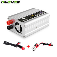 Onever 500W In car USB Inverter Auto Converter Power Supply Modified Sine Wave DC 12V to AC 220V Power for Notebook Laptop DVD