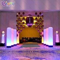 מתנפח פרסום LED shinning צינור/2 m גבוה אור LED עמוד מתנפח/טור מואר מתנפח קישוטים חיצוני