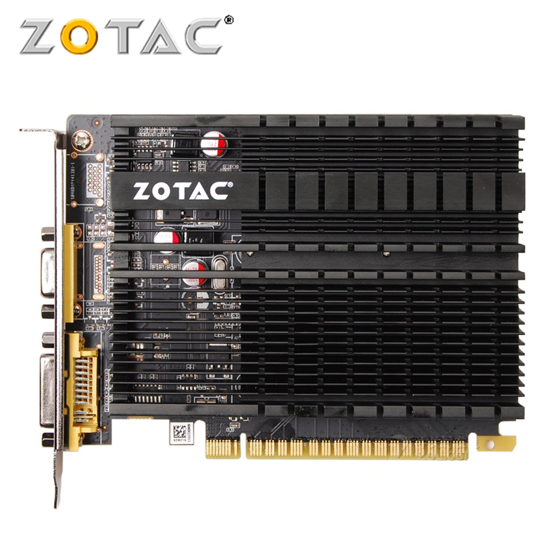 ZOTAC GPU Video Card GeForce GT610 1GB GDDR3 Graphics Cards GPU Map For NVIDIA Original GT 610 1GD3 64Bit Dvi VGA PCI-E автомобильный компрессор качок к60