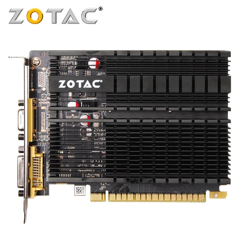 ZOTAC GPU Video Karte GeForce GT610 1 GB GDDR3 Grafikkarten GPU Karte Für NVIDIA Original GT 610 1GD3 64Bit dvi VGA PCI-E