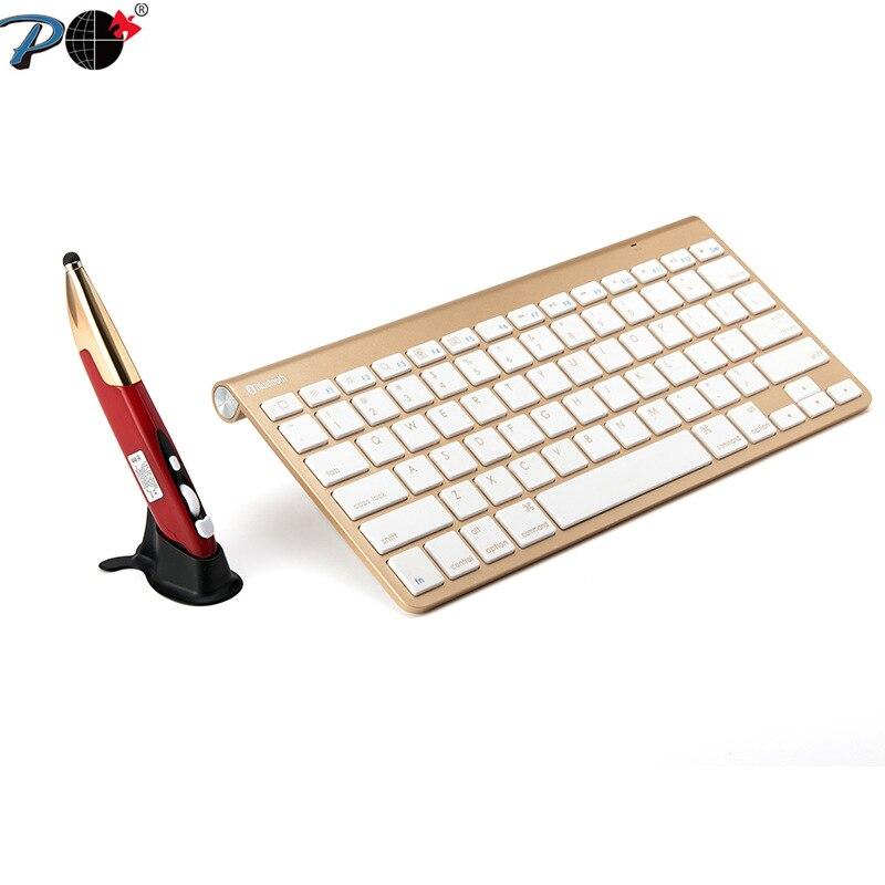 P clavier sans fil souris Combo, étanche luxe stylet souris et mince sans fil clavier ensemble Combos pour PC ordinateur portable bureau