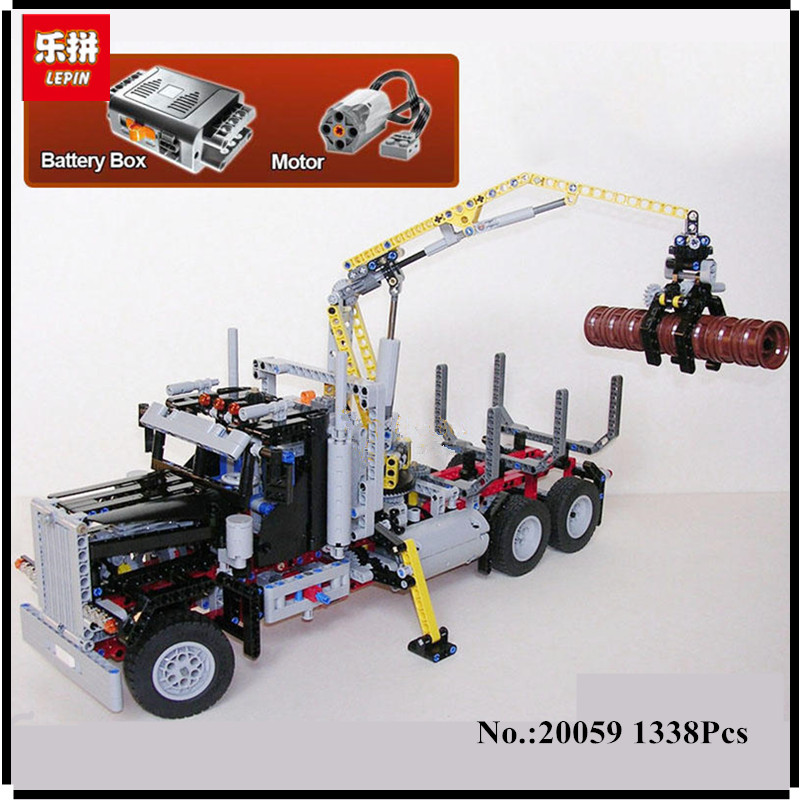 IN STOCK Lepin 20059 1338Pcs Technic Mechanical Series The Logging Truck Set Children Educational Building Blocks Bricks Toys пюре фруктовое с 6 месяцев агуша яблоко банан 115 г