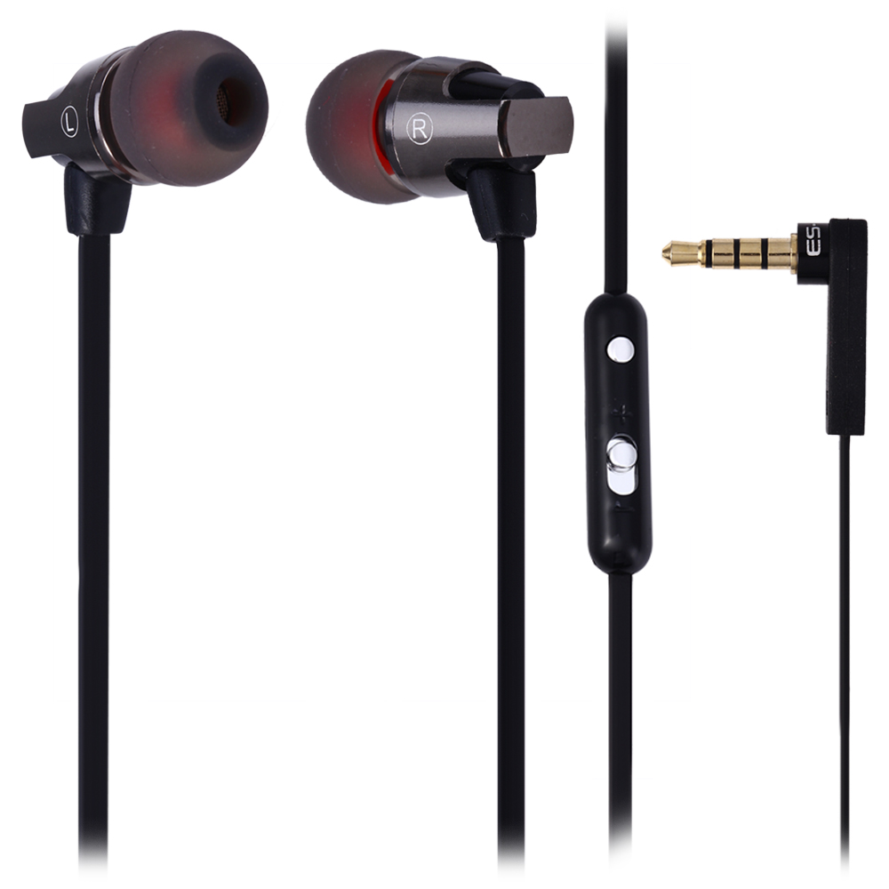 Awei ES860hi Super Bass Great Sound In-Ear Noise Isolating Earphone With Mic Volume Control 1.2m Cable For Smartphone Tablet PC