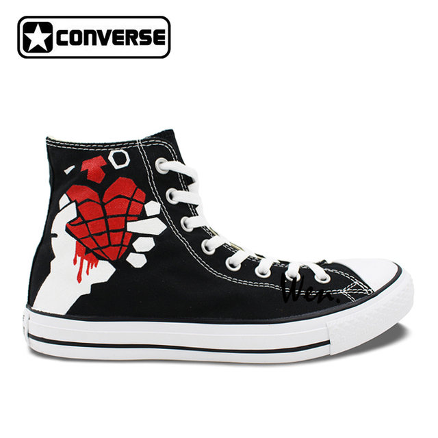 converse shoes with heart