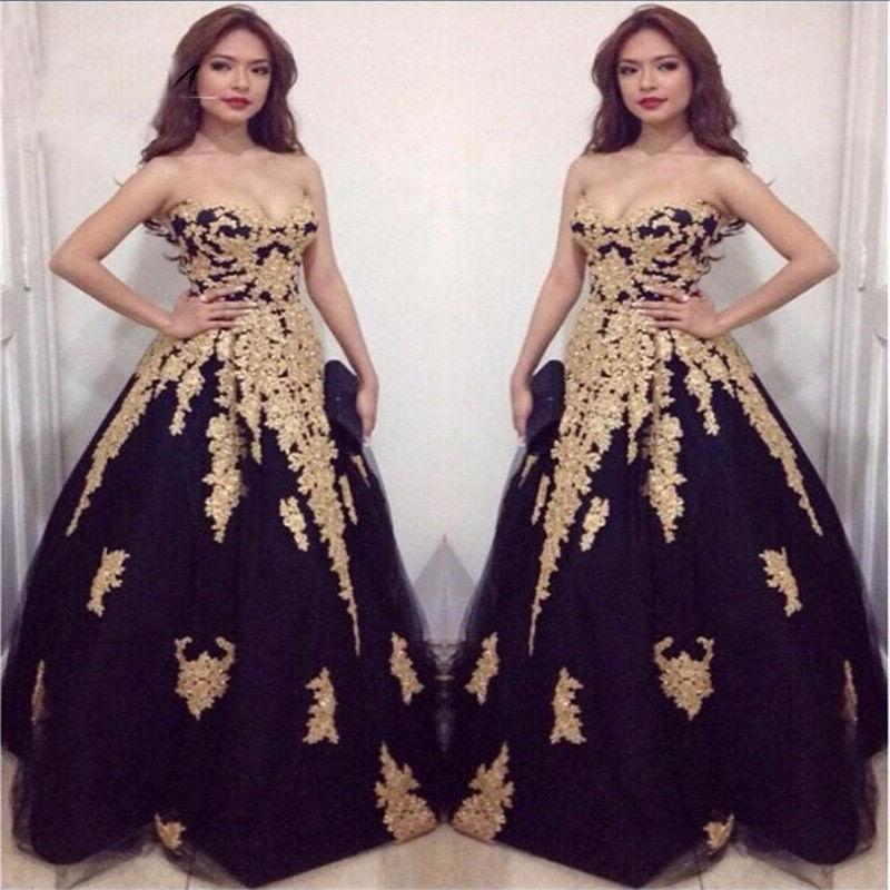 Glamorous Long Graduation Dresses Plus Size Prom Dresses 2017 Gold