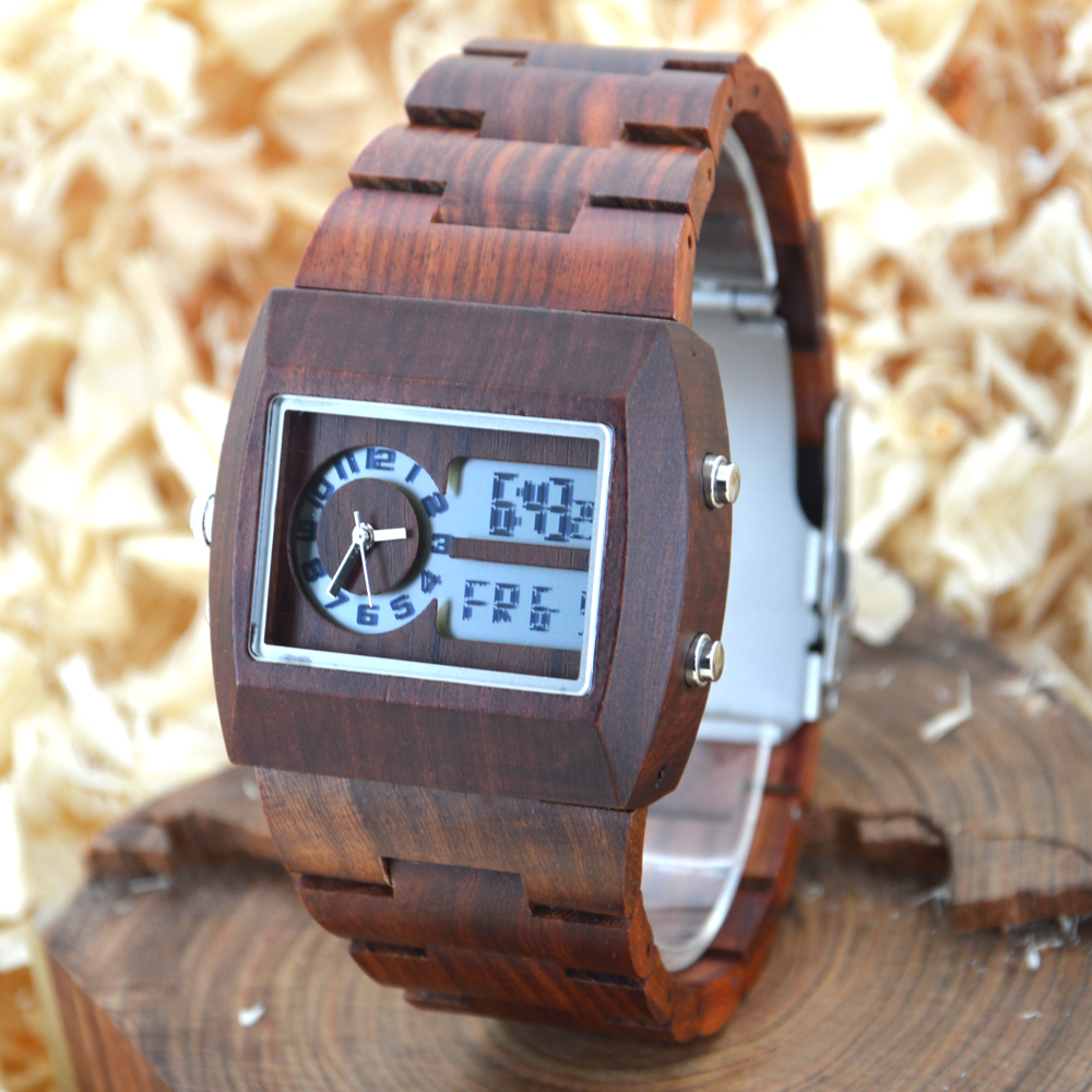 BEWELL Wood Watch Men Multifunctional electronics mens watches top brand luxury relogio masculino No LOGO horloges mannen 021A bewell wood watch men sport watch display date mens watches top brand luxury horloges mannen with paper box 109d