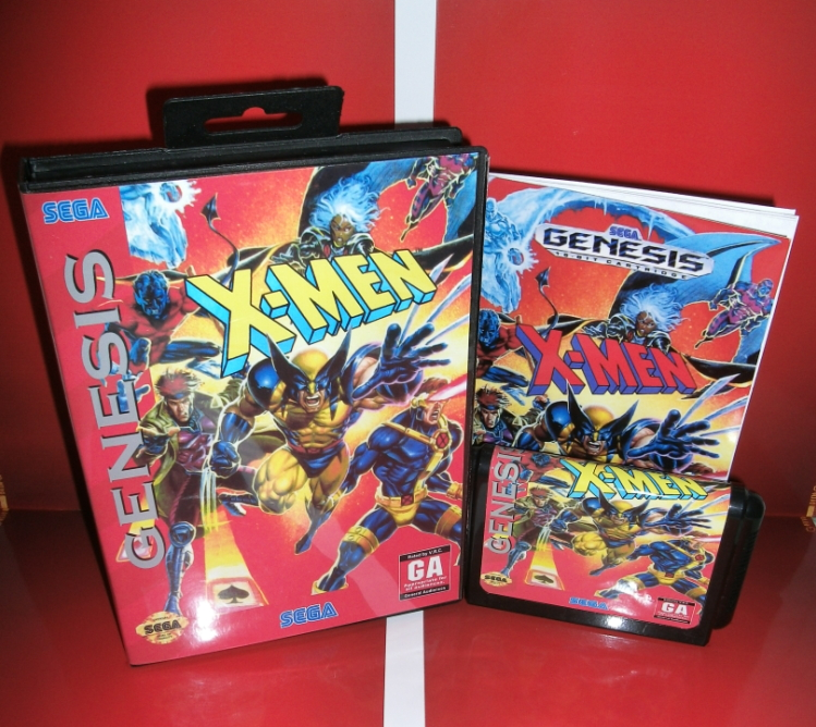 Sega games card - X - Men with box and manual for Sega MegaDrive Video Game Console 16 bit MD card