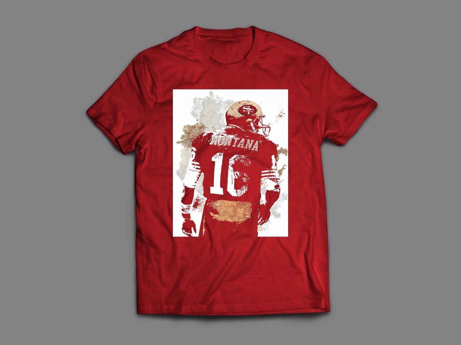 49ers Joe Montana Old Skool Mens T Shirt Many Options T Shirts Aliexpress