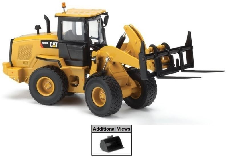Norscot Caterpillar 930K Wheel Loader with tools 1/50 Diecast cat Construction vehicles 55266 new norscot 55196 cat caterpillar 950h wheeled loader 1 50 diecast model toy