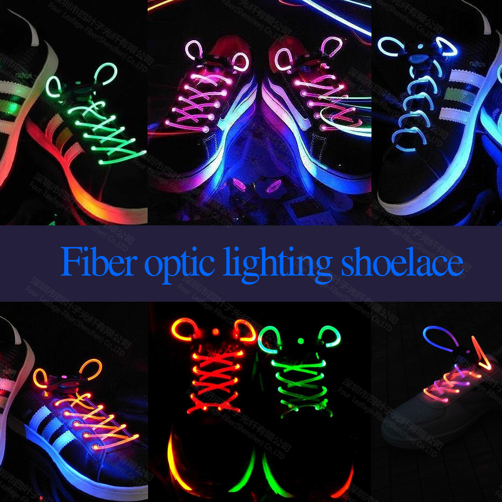 NEW 1PCS Optical Fiber Glowing Shoelaces