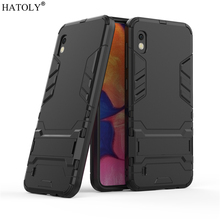 For Samsung Galaxy A10 Case Rubber Robot Armor Hard PC Back Phone Cover for A105F