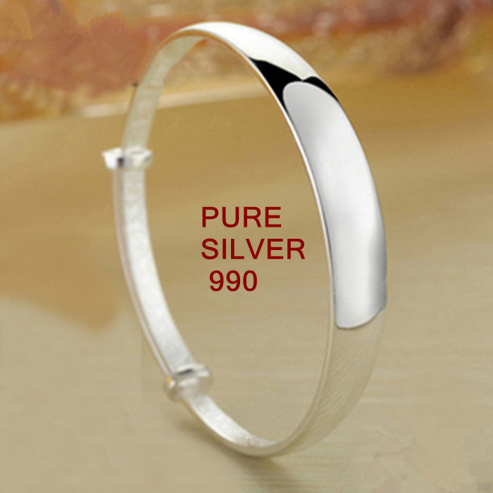 AUTHENTIC PURE SILVER 990 ADJUSTABLE SIZE BANGLES SMOOTH SURFACE LOOKS SIMPLE BUT VERY BEAUTIFUL PURER THAN 925 STERLING SILVERAUTHENTIC PURE SILVER 990 ADJUSTABLE SIZE BANGLES SMOOTH SURFACE LOOKS SIMPLE BUT VERY BEAUTIFUL PURER THAN 925 STERLING SILVER