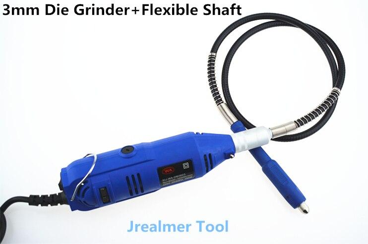 Jrealmer professionnel électrique Mini meuleuse Dremel outil 3mm mandrin vitesse Variable outil rotatif & arbre Flexible gratuit