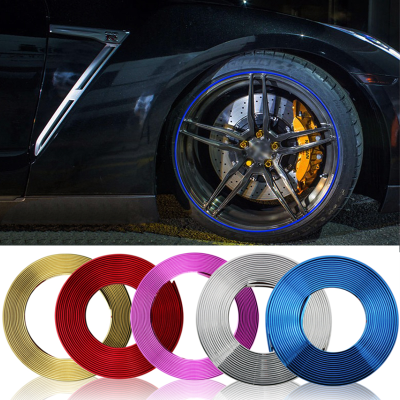 8m car chrome protection wheel Rim Grille clips light frame decoration Collision strips For TOYOTA Avensis Prius 4Runner Camry in Car Stickers from Automobiles Motorcycles