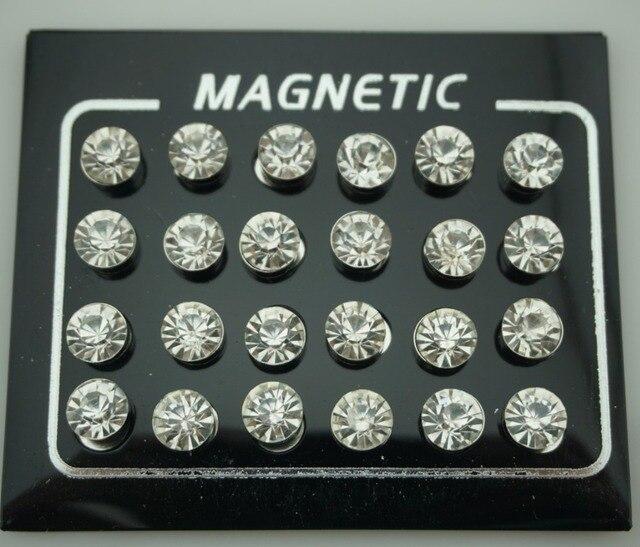 24pcs lot 4 5 6 7mm Round Crystal Rhinestone Magnetic Stud Slimming Earrings Lose Weight Magnetic.jpg 640x640 - 24pcs/lot 4/5/6/7mm Round Crystal Rhinestone Magnetic Stud Slimming Earrings Lose Weight Magnetic Health Jewelry