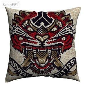 Defqon 1 музыкальная лента, модные декоративные наволочки для дивана, домашний декор, чехол для подушки из льна 45х45 см, наволочка Almofada