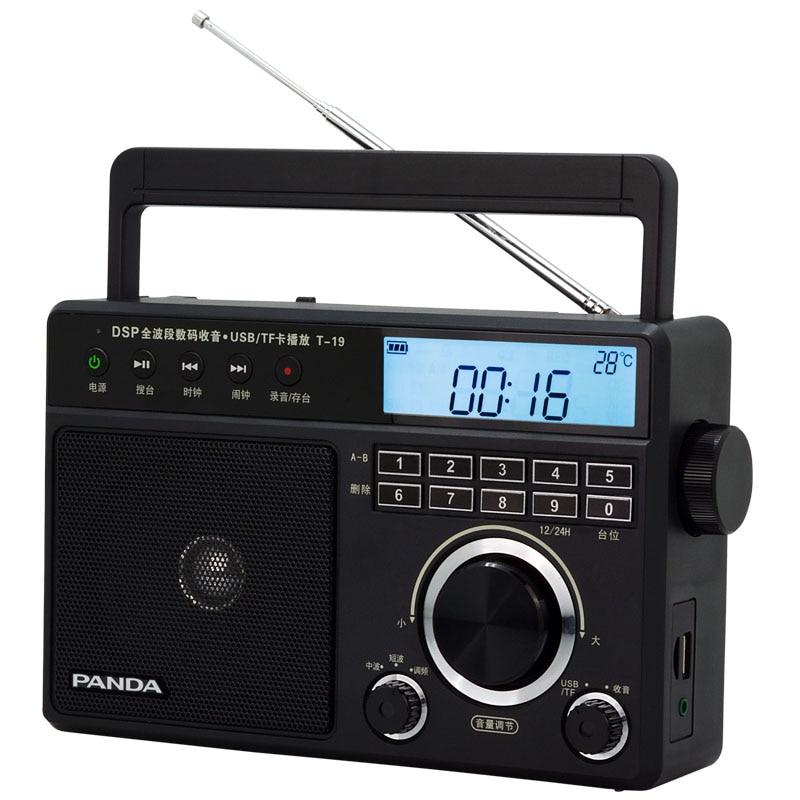 PANDA T-19 Music Player Elderly Portable Desktop Digital Card Full Band Radio freeshipping tecsun pl 600 full band fm mw sw ssb pll synthesized stereo portable digital radio receiver pl600