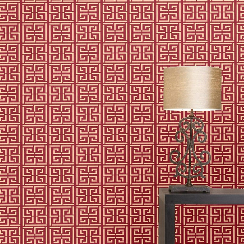 Classic Chinese Style Study Hotel Box Tea House Dining Hall Restaurant Background Wallpaper Red Beige Wall Papers Home DecorClassic Chinese Style Study Hotel Box Tea House Dining Hall Restaurant Background Wallpaper Red Beige Wall Papers Home Decor