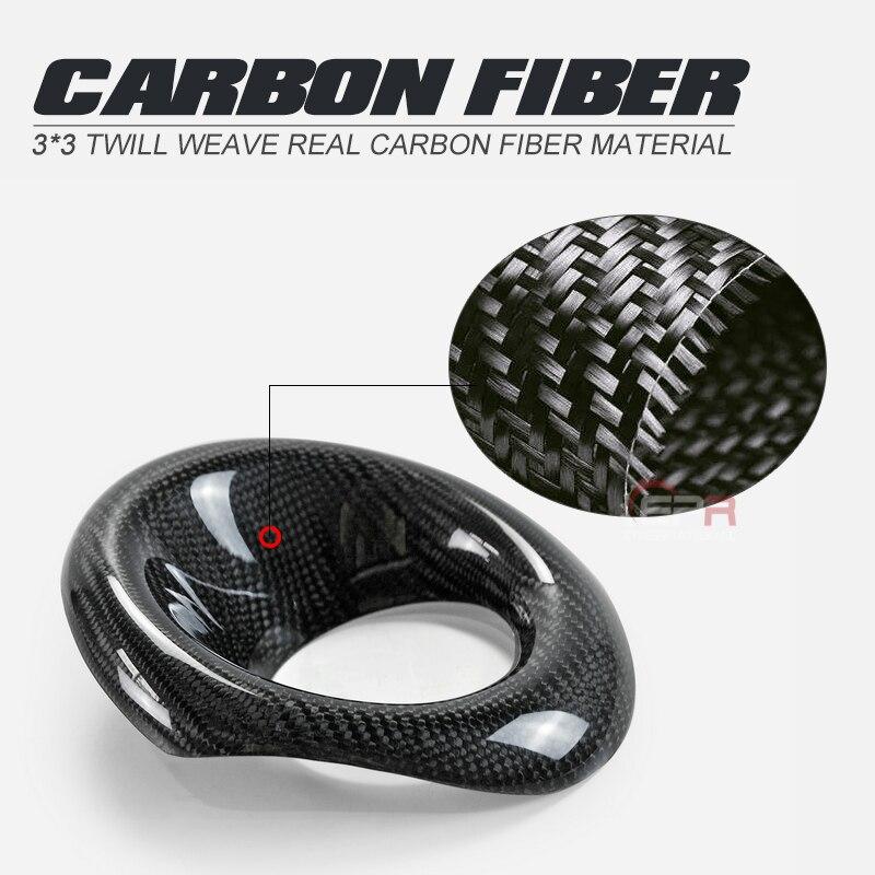 Ensemble de lampe de pare-chocs finition brillante en Fiber de carbone, garniture de couverture de phare antibrouillard avant, Kit de carrosserie à dérive pour Honda Civic FK8