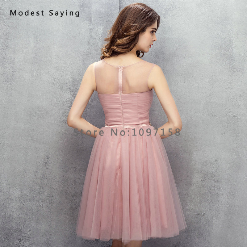 Sexy Dusty Rose A Line Mini Pleat Beaded Cocktail Dresses 2017 Girls Formal  Knee Length Homecoming Prom Gowns vestidos de coctel-in Cocktail Dresses  from ... 8adee002a3c0