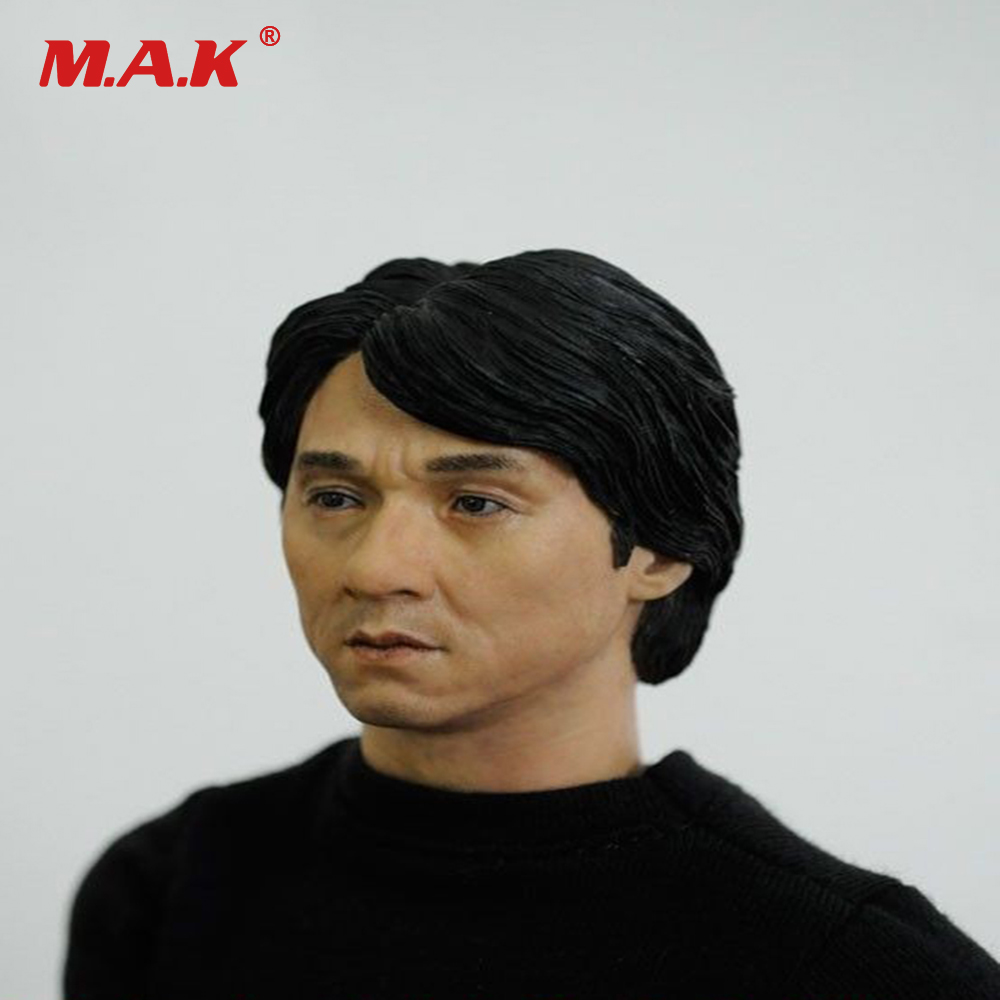 1/6 Scale Male Head Sculpt Jackie Chan Soldier Toys Action Figure Accessory Fit 12'' Body Figures mak custom 1 6 scale hugh jackman head sculpt wolverine male headplay model fit 12kumik body figures