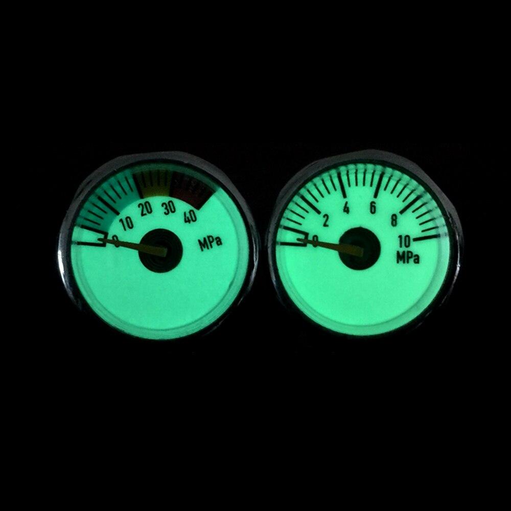 PCP Paintball Airsoft Pump Luminous Mini Air Pressure Gauge Airforce Manometre 10/20/30MPA 1'' M8x1/M10 X1 Thread 3PCS=1 LOT