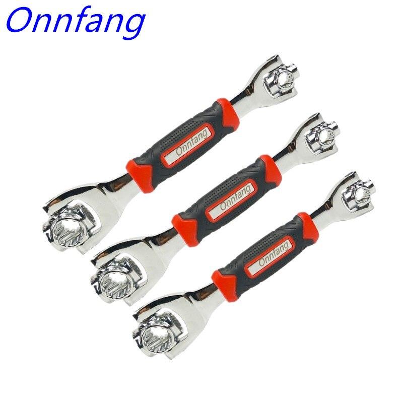 48-in-1 Tiger Schlüssel Hand Tools Sockel Arbeitet mit Spline Schrauben Torx 360 Grad 6-Punkt universial Möbel Auto Reparatur Spanner